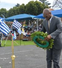 Minister Nathi Mthethwa at the Greek National Independence day at