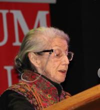 Nadine Godima speaks at Can Temba memoria